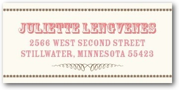 photo of Personalized address labels, Antique Affair