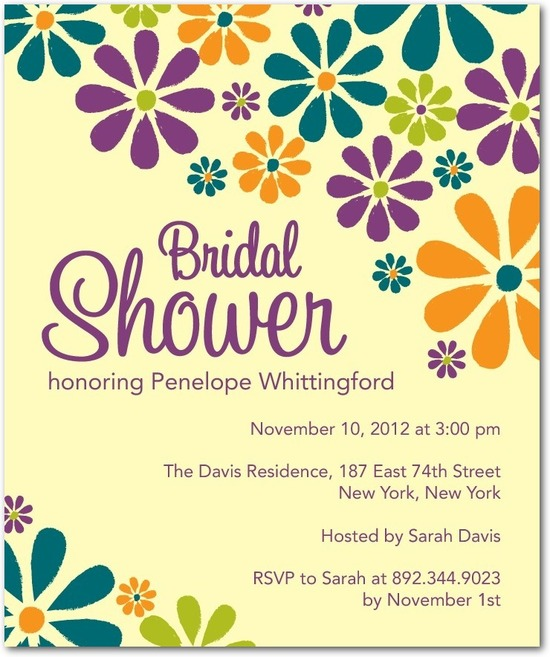 Studio basics: bridal shower invitations, Groovy Blooms
