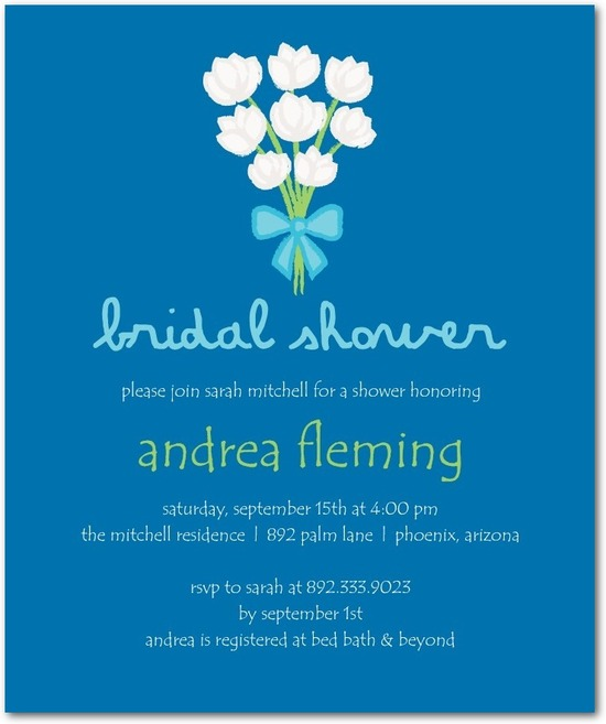 photo of Studio basics: bridal shower invitations, Tulip Bouquet