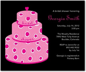 photo of Studio basics: bridal shower invitations, Sweet Cake
