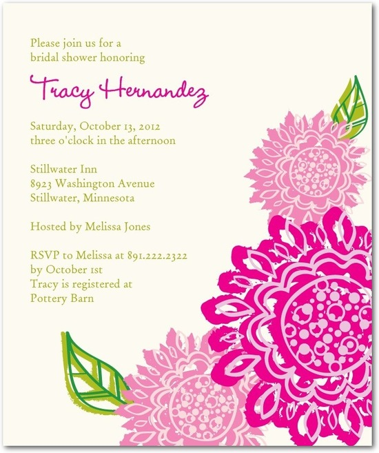 Studio basics: bridal shower invitations, Fresh Fun