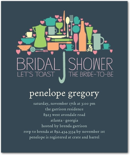 Studio basics: bridal shower invitations, Umbrella Collage