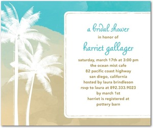 photo of Studio basics: bridal shower invitations, Swaying Palms
