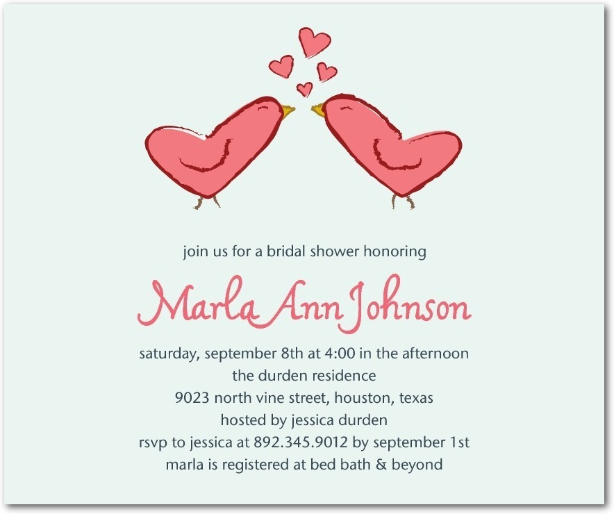 Studio basics: bridal shower invitations, Loving Peck