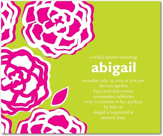 photo of Studio basics: bridal shower invitations, Floral Contrast