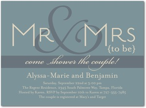 photo of Signature white bridal shower invitations, Future To Be