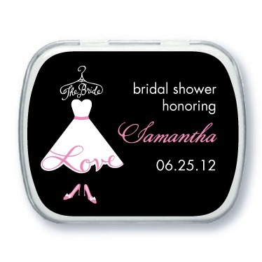Personalized mint tins, Love The Bride
