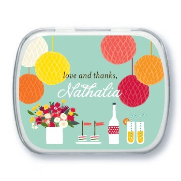 Personalized mint tins, Freshly Festive