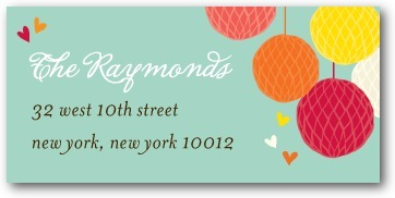 Personalized address labels, Freshly Festive