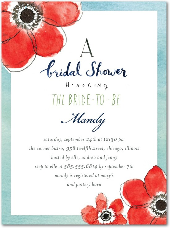Signature white bridal shower invitations, Ever So Sweet