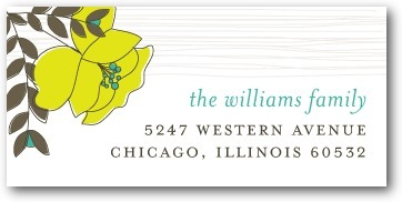 Personalized address labels, Mister and Missus
