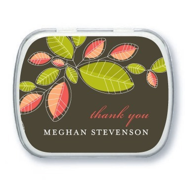 photo of Personalized mint tins, Mod Leaves