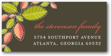 Personalized address labels, Mod Leaves