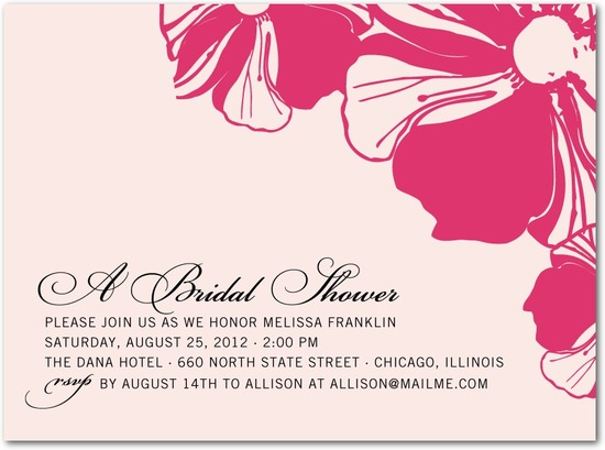 Signature white bridal shower invitations, Gallery Bloom