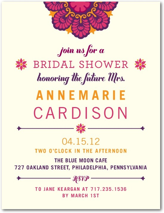 Bridal shower postcards, Ornate Art Deco