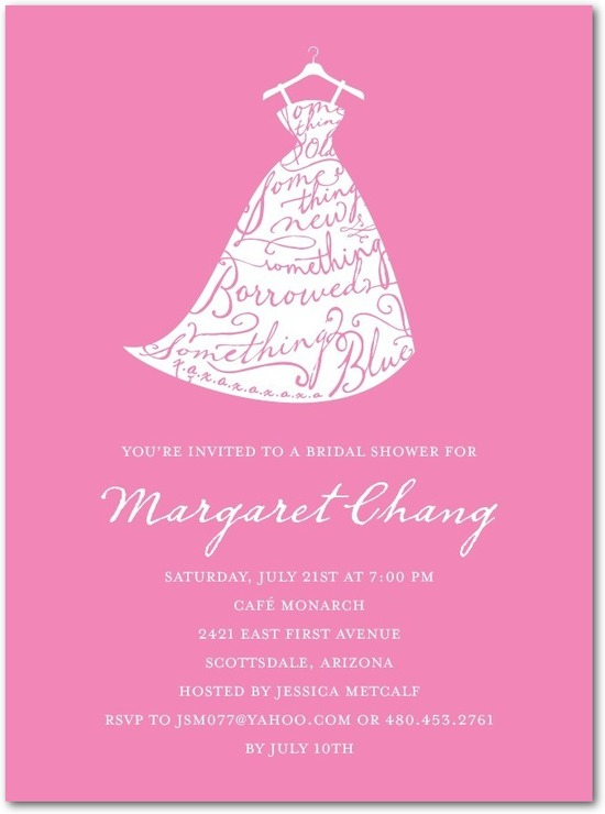 Signature white bridal shower invitations, Best Dressed