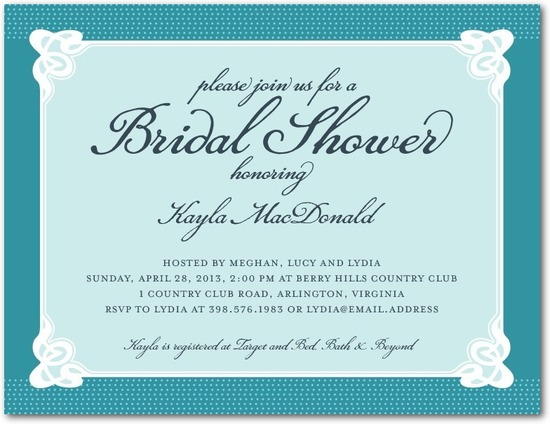 Bridal shower postcards, Sophisticated Affair