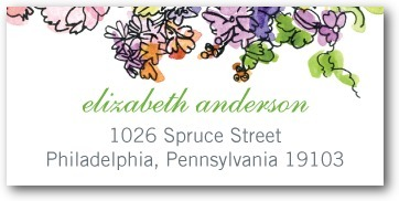 Personalized address labels, Painted Garden