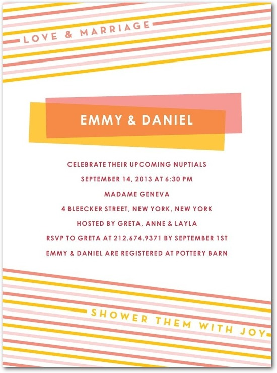 Signature white textured bridal shower invitations, Love and Marriage