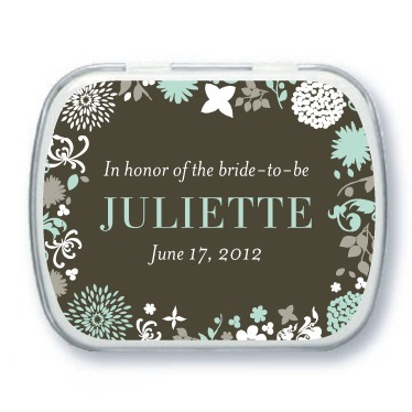 Personalized mint tins, Garden Gowned