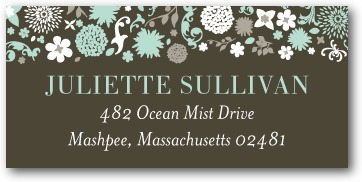 Personalized address labels, Garden Gowned