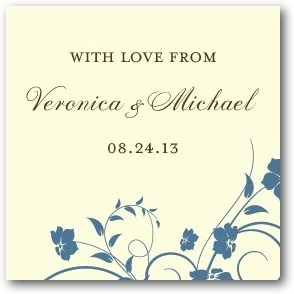 Personalized gift tag stickers, Vintage Print