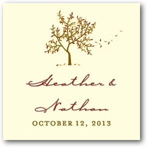 Personalized gift tag stickers, Autumn Afternoon