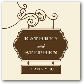 photo of Personalized gift tag stickers, Wedding Sign