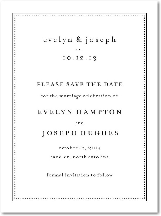 Signature white textured save the date cards, Impeccable Style