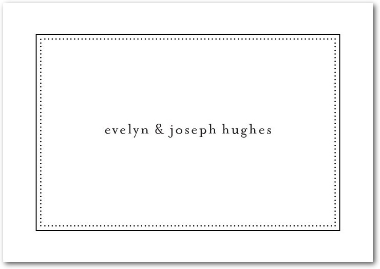 Signature white textured thank you cards, Impeccable Style