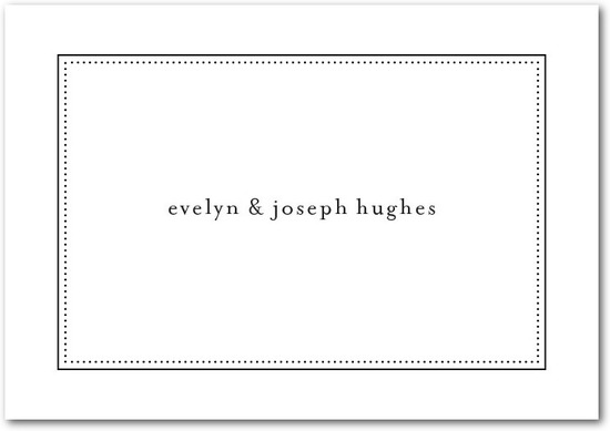 photo of Signature white textured thank you cards, Impeccable Style