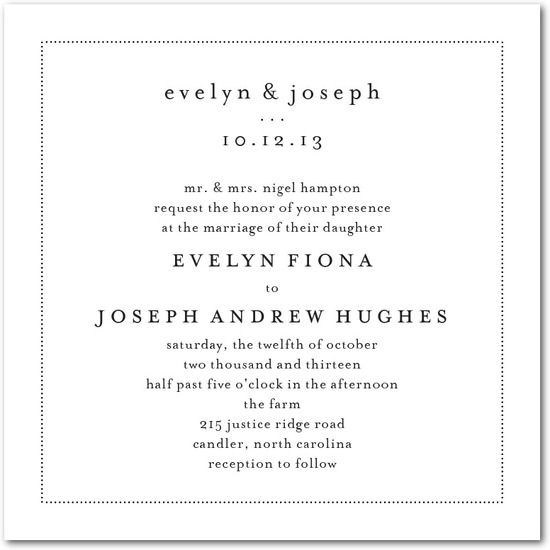 Signature white textured wedding invitations, Impeccable Style