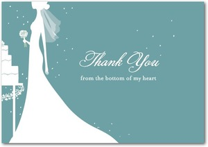 photo of Signature white thank you cards, Starry Bride
