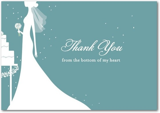 Signature white thank you cards, Starry Bride