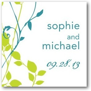 Personalized gift tag stickers, Natural Pair