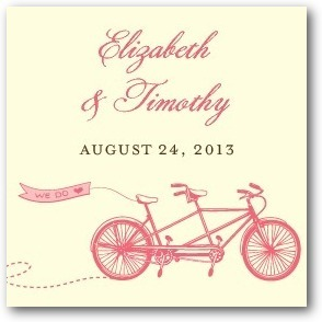 photo of Personalized gift tag stickers, Tandem Bike