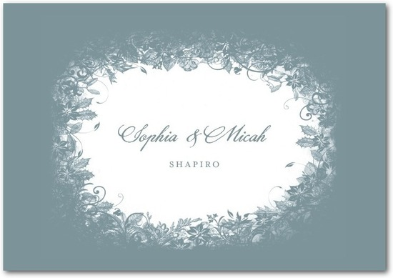 Signature white thank you cards, Enchanted Frost