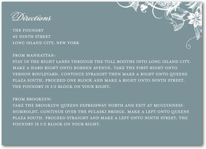 photo of Signature white enclosure cards, Enchanted Frost