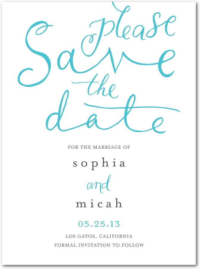 photo of Signature white textured save the date cards, Whimsical Wedding