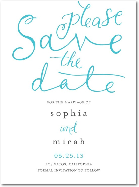 Signature white textured save the date cards, Whimsical Wedding