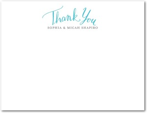 photo of Signature white textured thank you cards, Whimsical Wedding