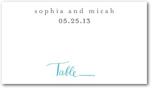 photo of Signature white textured place cards, Whimsical Wedding