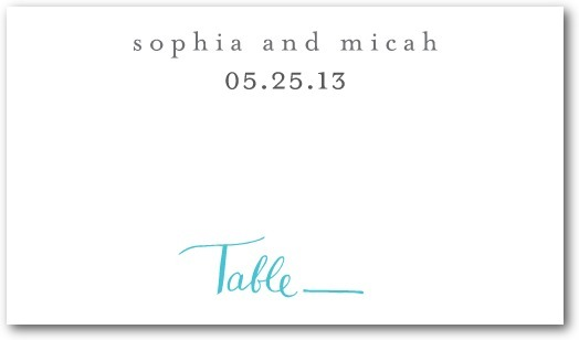 Signature white textured place cards, Whimsical Wedding