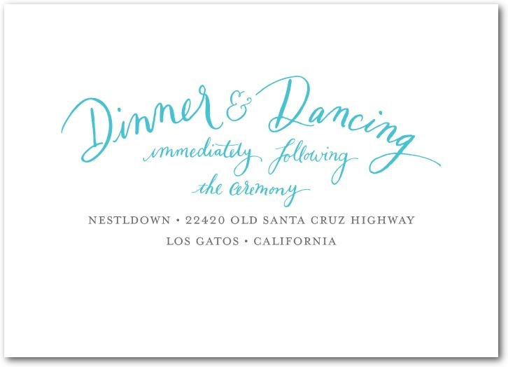 Signature white textured reception cards, Whimsical Wedding