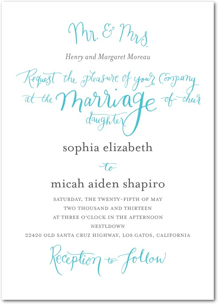 photo of Signature white textured wedding invitations, Whimsical Wedding