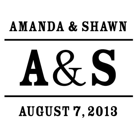 Stamps, Wedding Initials
