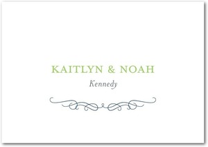 photo of Signature premium thank you cards, Majestic Wavy Scroll