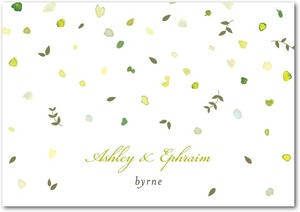 photo of Signature premium thank you cards, Autumn Shower