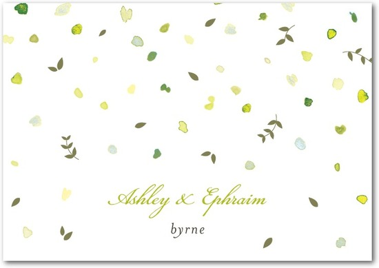 Signature premium thank you cards, Autumn Shower