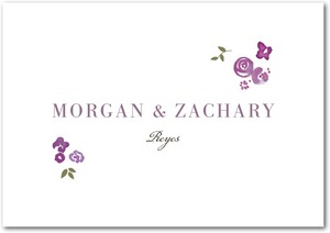 photo of Signature premium thank you cards, Showering Bouquets